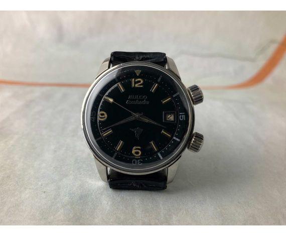 MULCO ESCAFANDRA DIVER SUPER COMPRESSOR Reloj suizo antiguo automático Cal. ETA 2472 Ref. 6-64 *** ESPECTACULAR ***