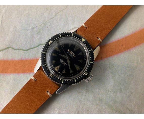AUREOLE DIVER NAUTILUS Reloj suizo antiguo automático Cal. ETA 2451 PRECIOSA PÁTINA *** MARCADORES ESPECTACULARES ***