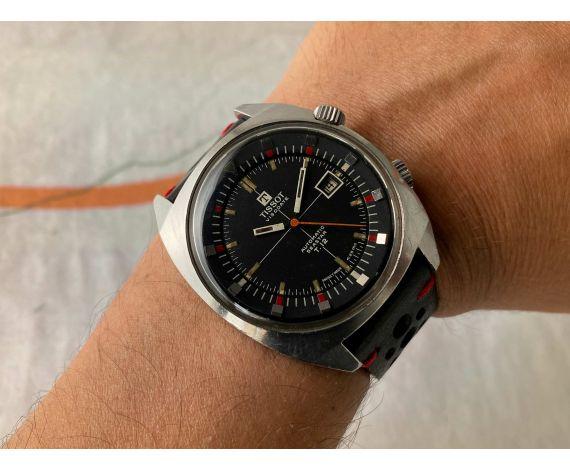 TISSOT VISODATE SEASTAR T12 Reloj suizo antiguo de cuerda DIVER Ref. 44518 Cal. 784-2 *** OVERSIZE ***