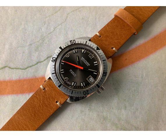 WALTHAM Ref. B339 Reloj suizo antiguo automático Cal. FHF 905 TODO ACERO INOXIDABLE *** DIVER ***