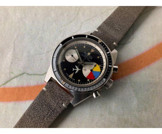 POTENS PRIMA DIVER Reloj suizo vintage cronógrafo de cuerda Cal. Landeron 248 CORONA ROSCADA *** COLECCIONISTAS ***