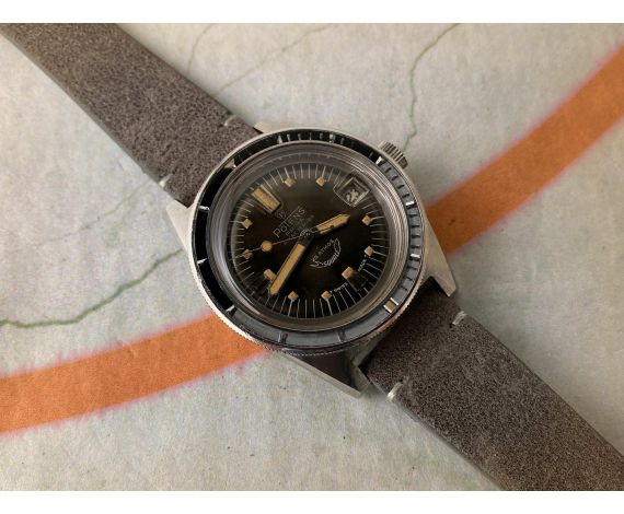 POTENS SQUALE 250 SUPERMATIC Vintage swiss automatic DIVER watch 25 ATMOS Cal. 4007N. LARGE DIAMETER *** TROPICALIZED DIAL ***