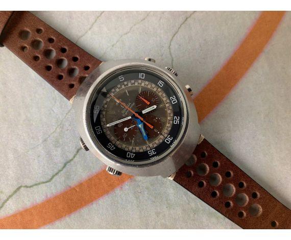 OMEGA FLIGHTMASTER 1969 Reloj suizo antiguo de cuerda Cal. 911 Ref. 145.026 *** CONTADORES CHOCOLATE ***