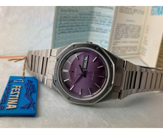 NOS FESTINA PALM BEACH Reloj suizo antiguo automático Cal. ETA 2789 ESTILO AUDEMARS PIGUET *** NUEVO DE ANTIGUO STOCK ***