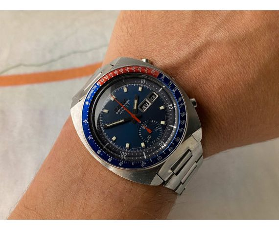 SEIKO POGUE Reloj cronógrafo antiguo automático 1977 Cal. 6139B JAPAN J Ref. 6139-6002 BISEL PEPSI *** PRECIOSO ***