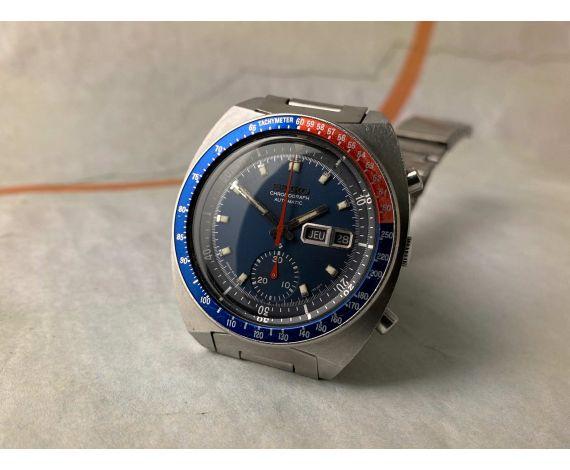 SEIKO POGUE Vintage automatic chronograph watch 1977 Cal. 6139B JAPAN J Ref. 6139-6002 PEPSI BEZEL *** PRECIOUS ***