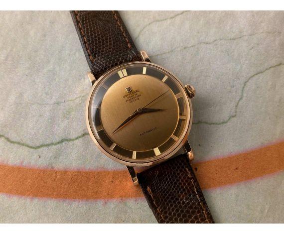 UNIVERSAL GENEVE POLEROUTER DE LUXE Reloj suizo Vintage automático Cal. 138SS BUMPER Ref. B10234-1 *** ORO MACIZO 18K ***