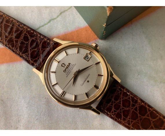 """OMEGA CONSTELLATION """"PIE PAN"""" OFFICIALLY CERTIFIED 18K ORO AMARILLO Cal. 561 Ref. 168.005/6 *** COLECCIONISTAS ***"""