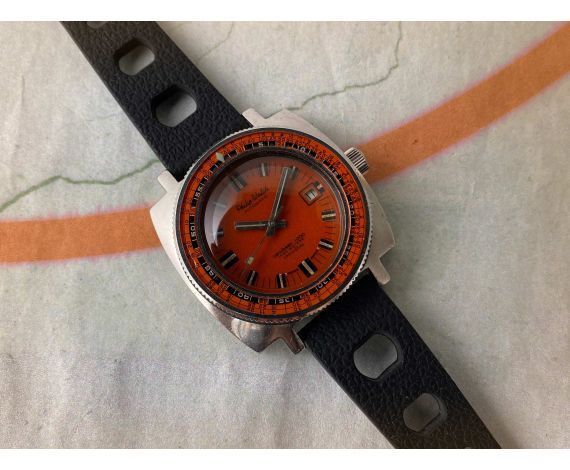 PHILIP WATCH CARIBBEAN 1000 Reloj suizo antiguo automático 1000 METERS 3300 FTS Ref. 706 Cal. ETA 2453 *** CORONA ROSCADA ***