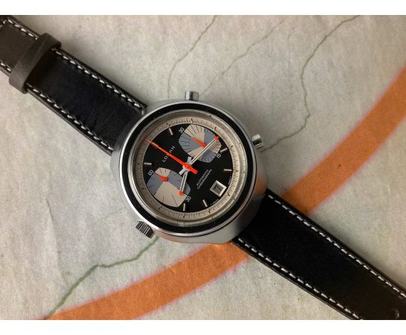 LOSAN AUTOMATIC CHRONOGRAPH Reloj Cronógrafo Vintage suizo automático Cal. 15 Ref. 4300 *** DIAL ESPECTACULAR ***