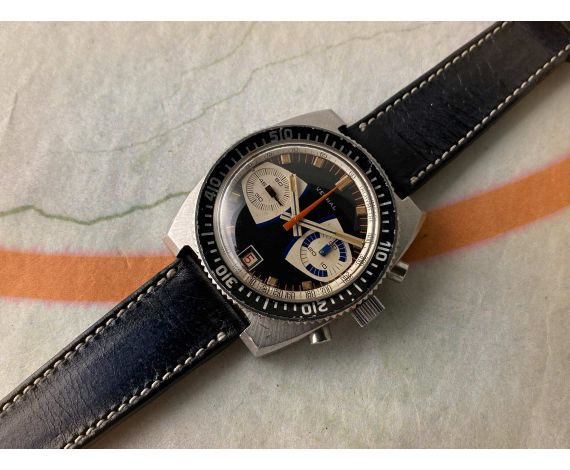 VERNAL DIVER Vintage swiss hand winding chronograph watch 20 ATM Cal. Valjoux 7734 *** OVERSIZE ***