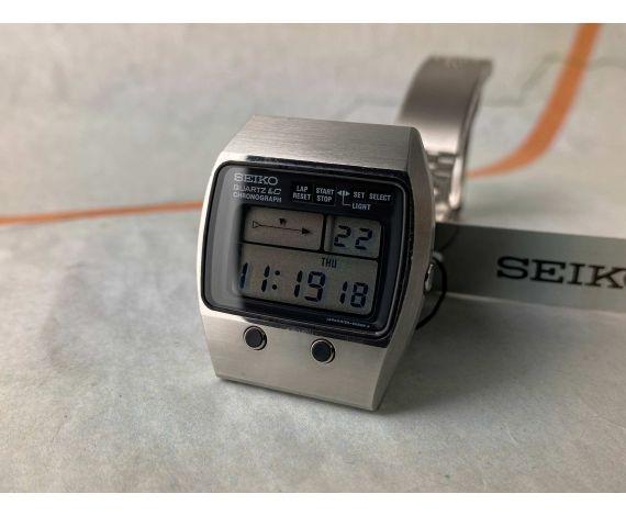 N.O.S. SEIKO QUARTZ LC CHRONOGRAPH 1978 Reloj Vintage de cuarzo Cal. M159 Ref. M159-5059 *** NUEVO DE ANTIGUO STOCK ***