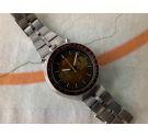 SEIKO SPEEDTIMER BULLHEAD 1976 Vintage automatic chronograph watch Cal 6138 B JAPAN J 6138-0040 *** BROWN ***