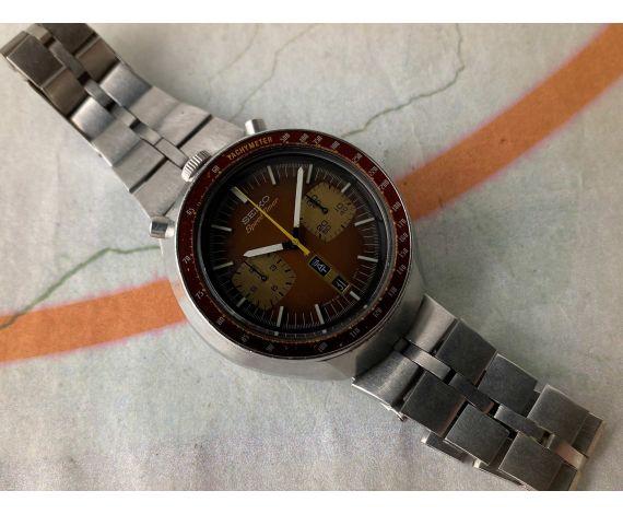 SEIKO SPEEDTIMER BULLHEAD 1976 Reloj cronógrafo antiguo automático Cal 6138 B JAPAN J 6138-0040 *** BROWN ***