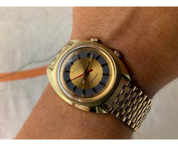 FAVRE LEUBA GENEVE SEA BIRD Reloj ALARMA suizo antiguo de cuerda Cal. AS 1475 *** TODO ORIGINAL ***