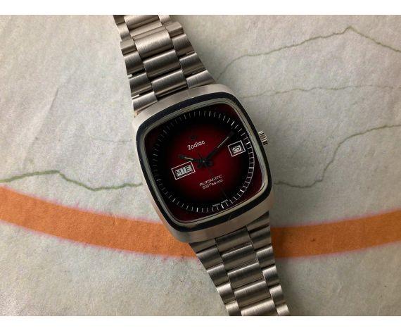 N.O.S. ZODIAC AUTOMATIC SST 36000 Reloj suizo antiguo automático Cal. 86 Ref. 862-968 PRECIOSO *** NUEVO DE ANTIGUO STOCK ***