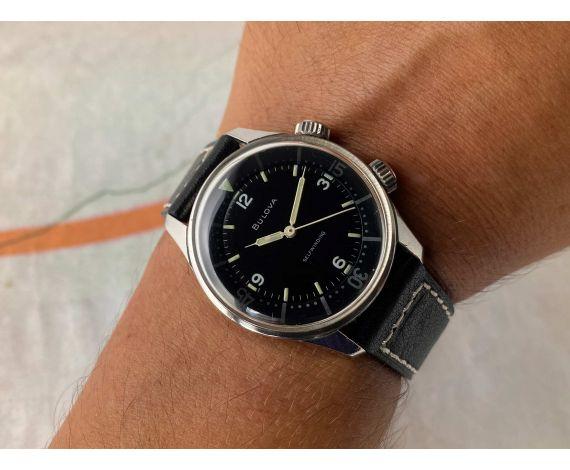 BULOVA DIVER SUPER WATERPROOF Reloj suizo antiguo automático Cal. 11AFAC M3 Ref. 314 *** SUPER COMPRESSOR ***