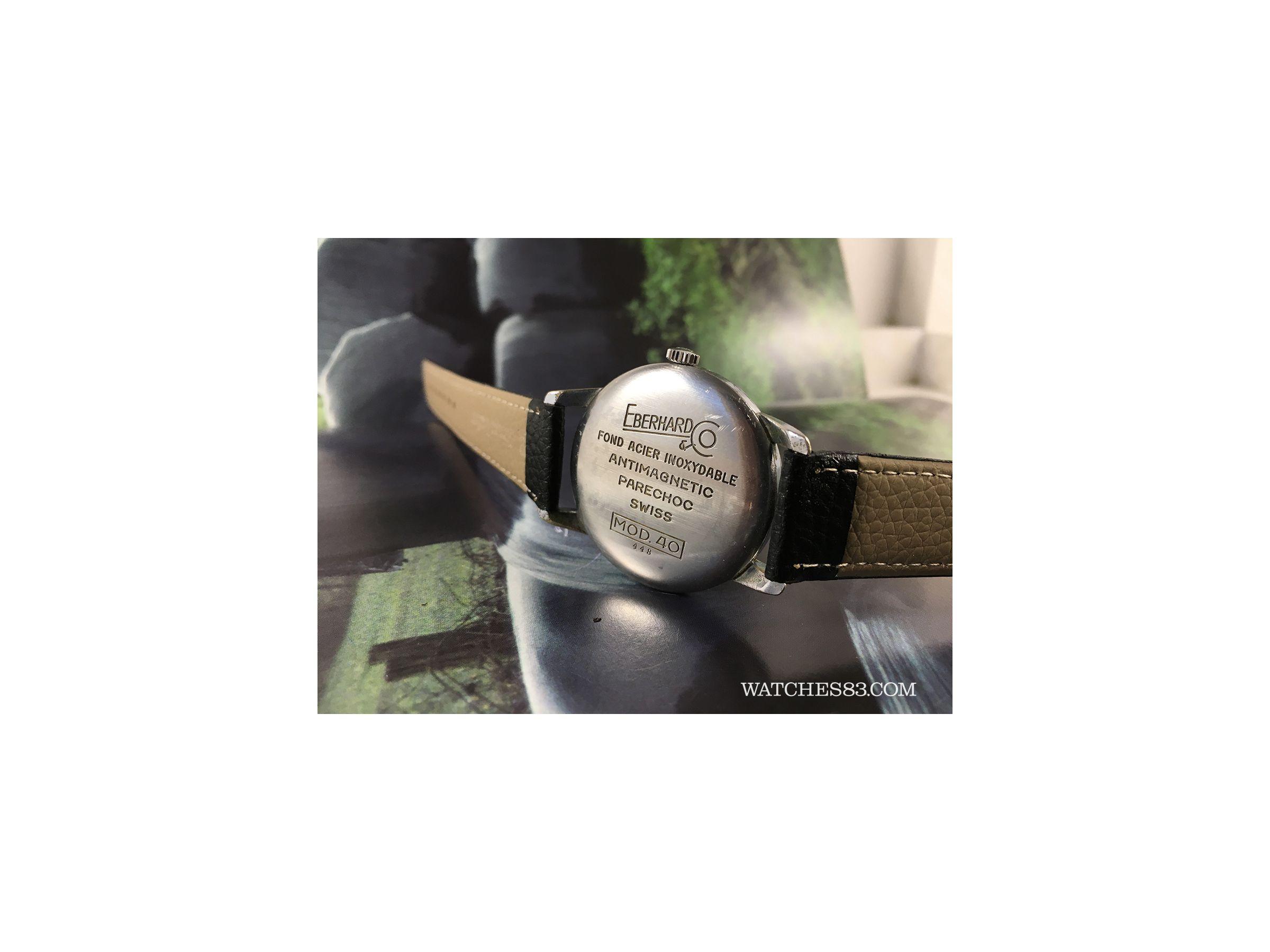 Vintage swiss watch hand winding Eberhard & Co Cal 137