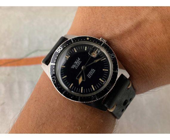 CLER WATCH AQUASTAR Reloj DIVER suizo antiguo automático 20 ATM Cal. ETA 2452 Bisel Bidireccional *** AGUJAS ESPECTACULARES ***