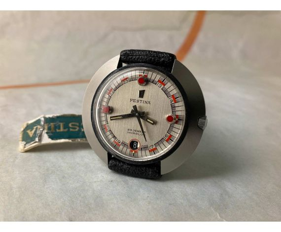 N.O.S. FESTINA DIVER Vintage swiss automatic watch 25 JEWELS 10 ATMOS Cal. ETA 2782 OVERSIZE *** NEW OLD STOCK ***