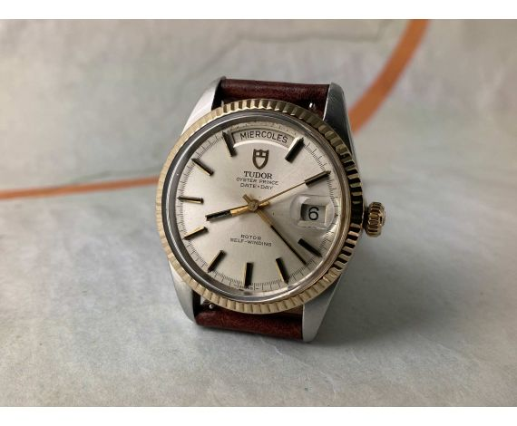 """TUDOR OYSTER PRINCE DATE DAY """"JUMBO"""" 1969-70 Vintage swiss automatic watch 38 mm Ref. 7019/3 Cal. AS 1895 *** OVERSIZE ***"""