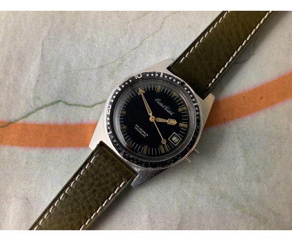 CRISTAL WATCH Reloj vintage automático Cal FELSA 4007N 20 ATM MANECILLAS ESPECTACULARES *** PÁTINA ***