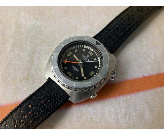 AQUASTAR SA GENÈVE BENTHOS 500 Reloj DIVER suizo antiguo automático Cal. AS 2162 Ref. 1002 COLECCIONISTAS *** BISEL GHOST ***