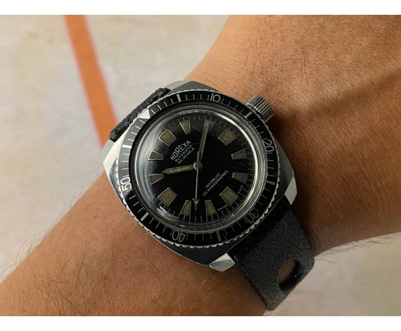 NOREXA Reloj suizo antiguo automático Cal. ETA 2451 DIVER Corona roscada 30 JEWELS 800 FT *** 20 ATM ***
