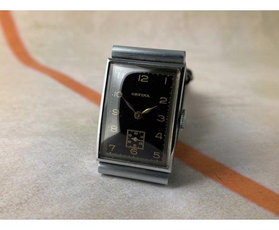 ORFINA ART DECÓ Reloj suizo antiguo de cuerda COLECCIONISTAS Gran diámetro *** MINT ***
