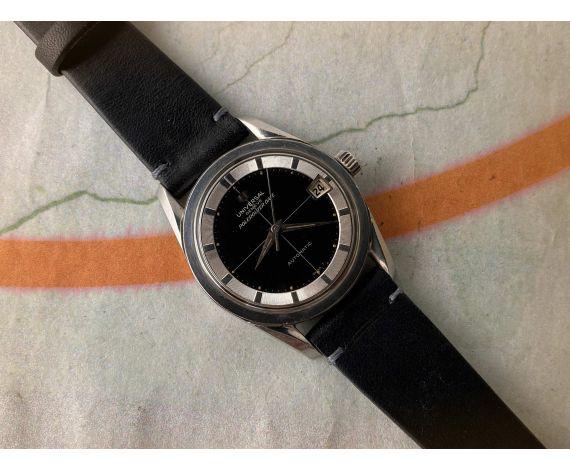 UNIVERSAL GENEVE POLEROUTER DATE 1965 Ref. 204612/2 Reloj suizo antiguo automático Cal. 218-2 *** BLACK DIAL ***