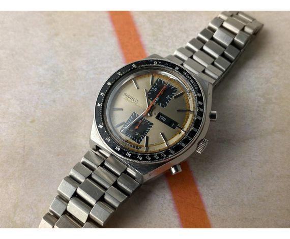 SEIKO KAKUME SPEED TIMER 1976 Vintage automatic chronograph watch Ref 6138-0030 Cal. 6138 B DIAL CHAMPAGNE *** PRECIOUS ***