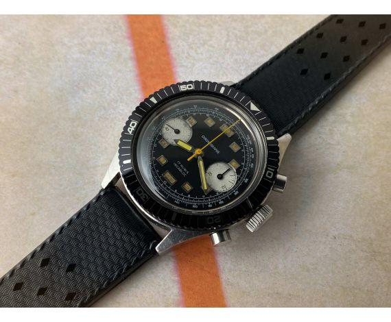 ANÓNIMO Reloj cronógrafo de cuerda Vintage Cal. Landeron 248 Bisel bidireccional 12 ATM 17 JEWELS *** DIVER ***