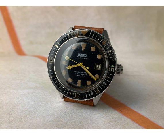 JENNY SWISS HI-SWING CARIBBEAN 1500 Reloj DIVER suizo vintage automático 1000 METERS 3300 FT *** COLECCIONISTAS ***