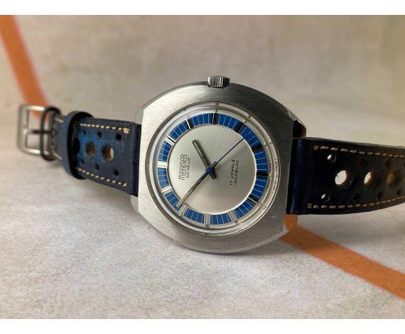 MIRAMAR GENEVE NUEVO DE ANTIGUO STOCK Reloj suizo antiguo de cuerda Cal. 781-1 CJ ACERO INXIDABLE *** N.O.S. ***