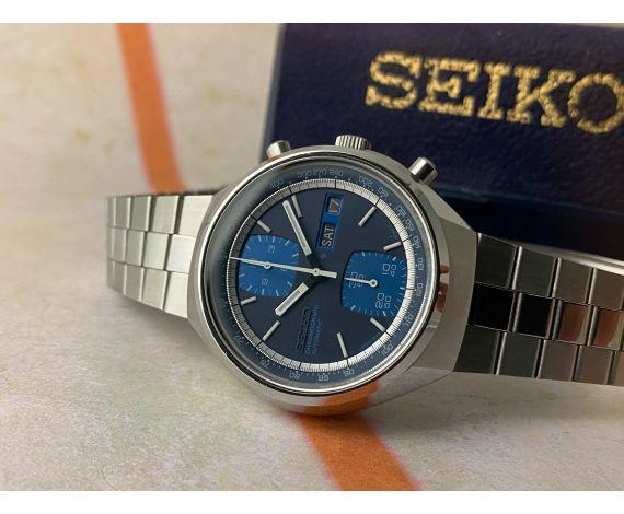 N.O.S. SEIKO Reloj cronógrafo vintage automático Ref. 6138-8030 Cal. 6138-B JAPAN + ESTUCHE *** NEW OLD STOCK ***