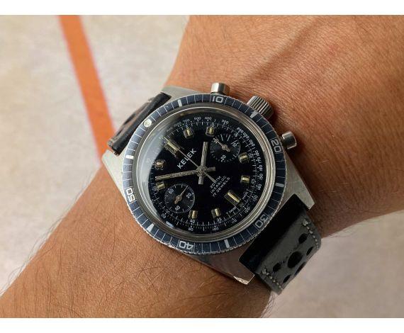 KELEK Diver vintage swiss hand winding chronograph watch 20 ATM Cal. Landeron 248 *** PRECIOUS ***