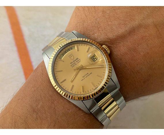 TUDOR OYSTER PRINCE DATE DAY Reloj suizo antiguo automático Ref. 94613 Acero y Oro *** ESPECTACULAR ***