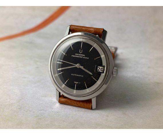 UNIVERSAL GENEVE POLEROUTER 1965 Reloj vintage suizo automático Cal. 218-2 MICROTOR Ref. 204604/9 *** PRECIOSA PATINA ***