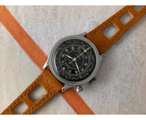 PIERCE Reloj Chronographe Telemetre suizo muy antiguo de cuerda 1930/40 Cal. 134. PRECIOSO *** MONOPULSADOR ***