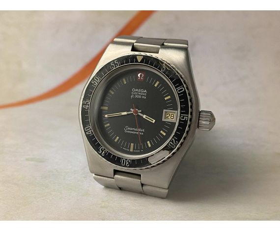 OMEGA SEAMASTER ELECTRONIC F300 HZ Ref. 198.0005 DIVER Cal. 916 Chronometer vintage swiss watch *** SCREW-DOWN CROWN ***