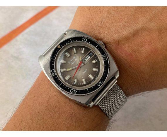 DUWARD AQUASTAR 200M Vintage swiss automatic watch Cal. ETA 2789 OVERSIZE *** DIVER ***