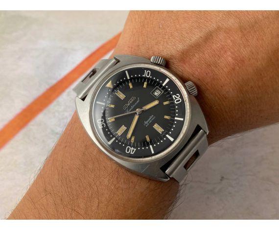 DUWARD CONTINUAL AQUASTAR 200M Swiss vintage automatic Diver watch OVERSIZE 20 ATM Cal. ETA 2472 *** SUPER COMPRESSOR ***