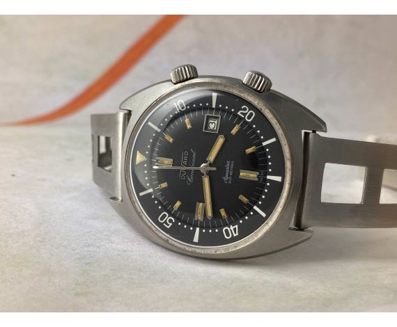 DUWARD CONTINUAL AQUASTAR 200M Reloj Diver suizo vintage automático OVERSIZE 20 ATM Cal. ETA 2472 *** SUPER COMPRESOR ***