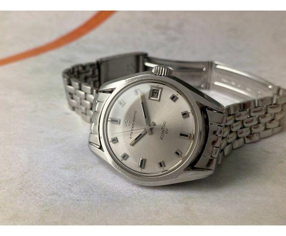 ETERNA-MATIC KONTIKI 20 Reloj suizo antiguo automático Cal. 1489K Ref. 130FTT Corona roscada ICÓNICO *** GRAN DIÁMETRO ***