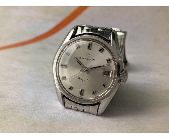 ETERNA-MATIC KONTIKI 20 Vintage swiss automatic watch Cal. 1489K Ref. 130FTT Screw-down crown. ICONIC *** LARGE DIAMETER ***