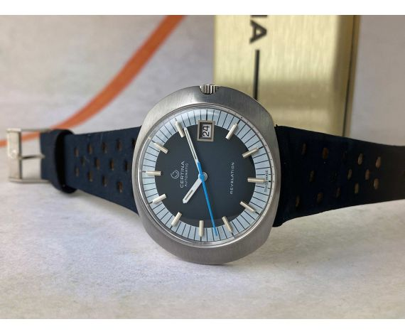 NOS CERTINA REVELATION Reloj suizo antiguo automático Cal. 25.651 Ref. 5801-185 + ESTUCHE *** NUEVO DE ANTIGUO STOCK ***