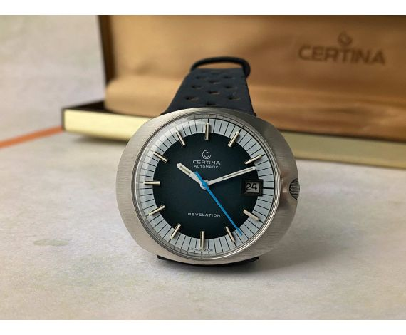 NOS CERTINA REVELATION Ref. 5801-185 Vintage swiss automatic watch Cal. 25.651 + BOX *** NEW OLD STOCK ***