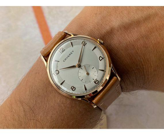 N.O.S. CRYSREY Vintage swiss hand winding watch Plaqué OR Cal. ETA 1120 OVERSIZE *** NEW OLD STOCK ***