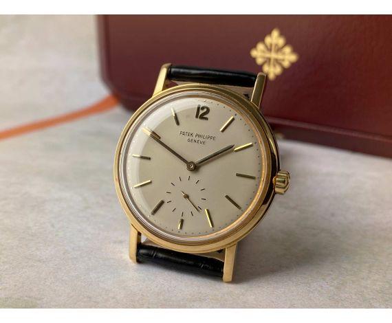 PATEK PHILIPPE CALATRAVA 1963 Ref. 3435 Reloj suizo antiguo automático Oro 18K Cal. 27-460. COLECCIONISTAS *** EXTRACTO ***