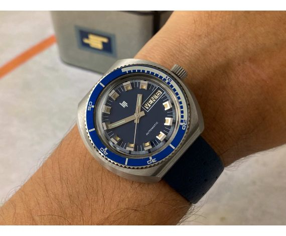 N.O.S. LIP Vintage automatic watch DIVER 20 ATM Cal. INT 7526/21600 LARGE DIAMETER *** NEW OLD STOCK ***